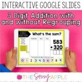 3 Digit Addition with & without Regrouping Interactive Tas