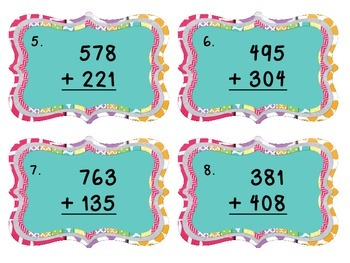 3-Digit Addition without Regrouping Scoot Game