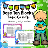 3 Digit Base Ten Place Value Blocks Task Cards