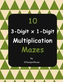 3-Digit By 1-Digit Multiplication Maze