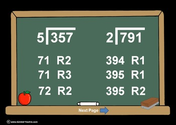 3 Digit Divided By 1 Digit Division PowerPoint Quiz + Matc