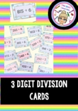 3 Digit Division Cards (with and without remainders)