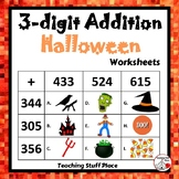 3-Digit HALLOWEEN Addition Worksheets ... MATH Core Grade 4