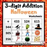 3-Digit HALLOWEEN Addition Worksheets ... MATH Core Grade 4