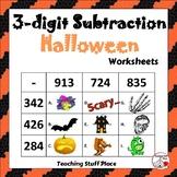 3-Digit HALLOWEEN Subtraction Worksheets ... MATH Core Grade 4