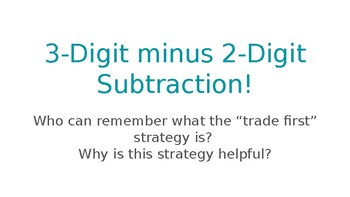 3-Digit Minus 2-Digit Subtraction Presentation