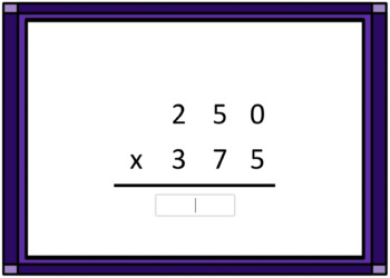 3 Digit Multiplication Computation Boom Card Deck 2