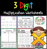 Multiply 3 Digit by 1 Digit Worksheets