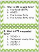 3 Digit- Number Forms Scoot and Worksheets (expanded, standard, word)