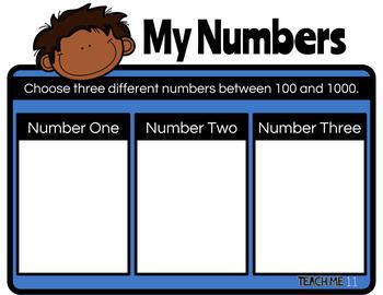 3-Digit Number Journal