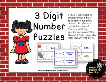 3 Digit Number Puzzles