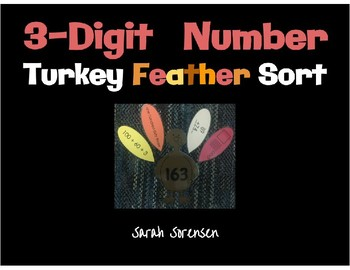 3 Digit Number Turkey Feather Sort