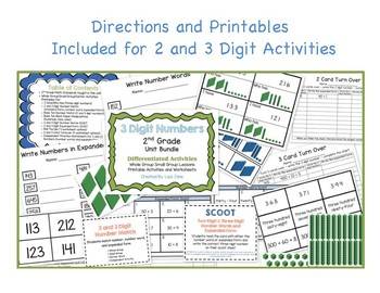 3 Digit Numbers Unit Bundle Whole Group, Small Group, Centers