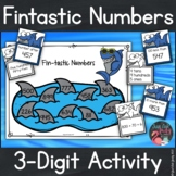 Place Value Activity   3 Digit Numbers   Shark Theme