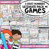 3 Digit Numbers Ultimate Pack 1 - Print and Play Games & A