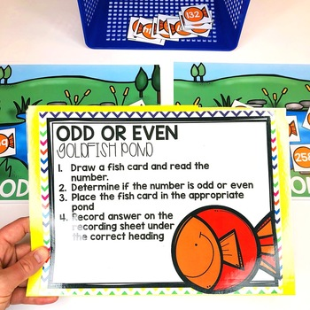 3-Digit Odd or Even Math Center (included in 2nd grade math centers bundle)