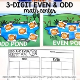 3-Digit Odd or Even Math Center (included in 2nd grade mat