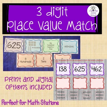 3-Digit Place Value Matching Game
