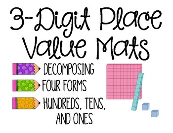 3 Digit Place Value Mats