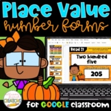 3 Digit Place Value Number Forms Digital Activities