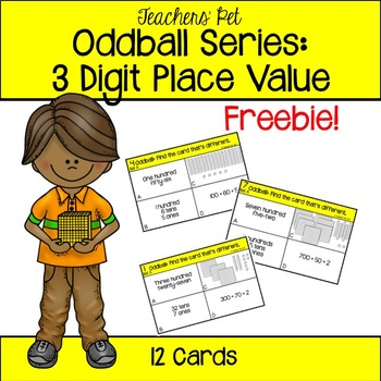 3 Digit Place Value Oddball Cards