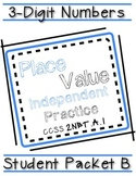 3 Digit Place Value Packet B