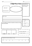 3 Digit Place Value Printable