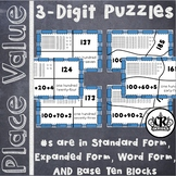 3 Digit Place Value Puzzles in Word Form, Expanded Form &
