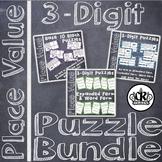 3 Digit Place Value Puzzle Bundle for Math Centers