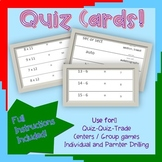 Place Value (3 digit) Quiz Cards (for Quiz-Quiz-Trade Activities)