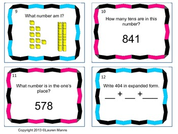 3-Digit Place Value Scoot