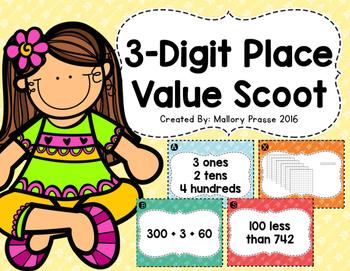 3 Digit Place Value Scoot FREEBIE