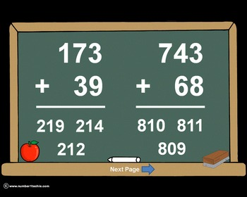 3 Digit Plus 2 Digit WITH Regrouping-PowerPoint Quiz - Mat