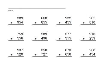3 Digit Plus 3 Digit Addition PowerPoints+MatchingWkshts &Keys-BUNDLE of 3 PP's!