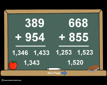 3 Digit Plus 3 Digit WITH Regrouping-PowerPoint Quiz - Matching Worksheet & Key!
