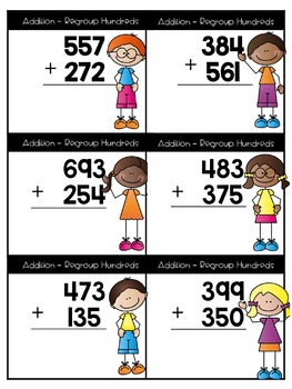 3 Digit Printables and Task Cards