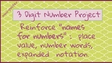 3 Digit Project: Mini Poster~ Expanded Notation, Place Val