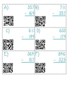3 Digit QR Subtraction