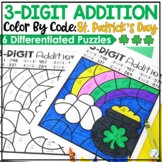 3-Digit St. Patrick's Day Addition Color by Code with and