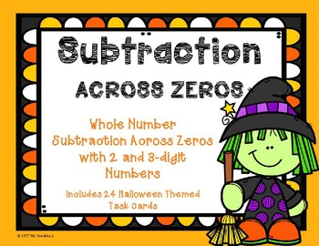3 Digit Subtraction Across Zeroes {Halloween Theme}