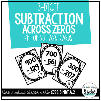 3.NBT.A.2 - 3-Digit Subtraction Across Zeros SCOOT!