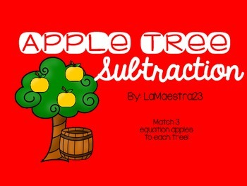 3 Digit Subtraction Apple Trees