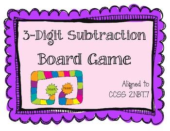 3-Digit Subtraction Board Game (2.NBT.7)