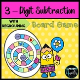 3 Digit Spring Subtraction Board Game