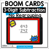 3-Digit Subtraction Boom Cards (No Regrouping) Distance Learning