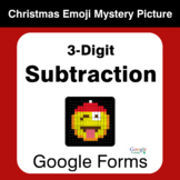 3-Digit Subtraction - Christmas EMOJI Mystery Picture - Go