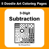 3-Digit Subtraction - Coloring Pages | Doodle Art Math