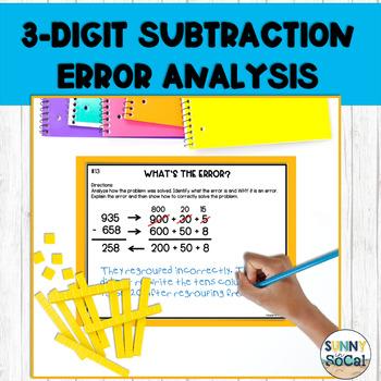 3 Digit Subtraction Error Analysis
