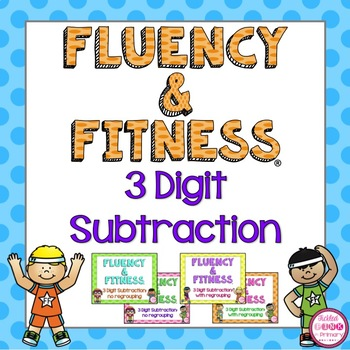 3 Digit Subtraction Fluency & Fitness Brain Breaks Bundle