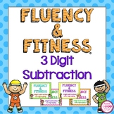 3 Digit Subtraction Fluency & Fitness Brain Breaks